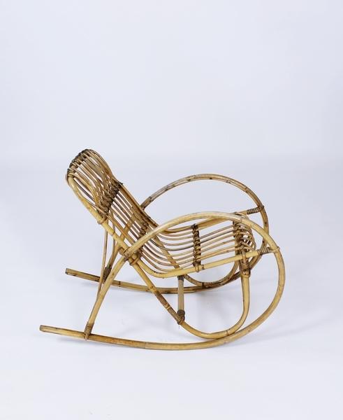 Vintage 1950s Italian Design Children Rocking Chair