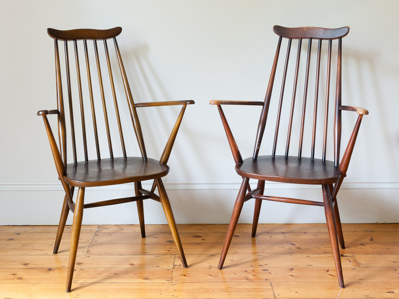 Ercol 'Goldsmith' Carver Dining Chairs