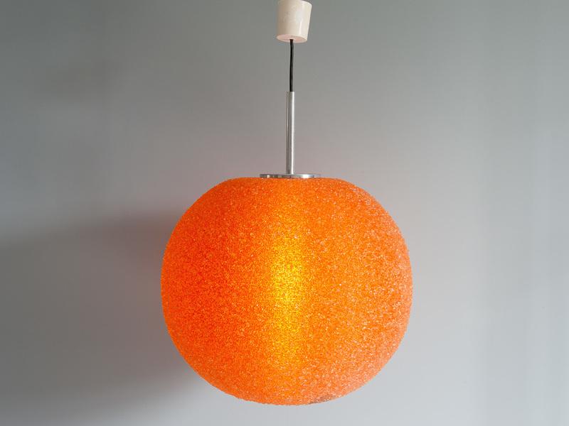 Orange Glitter Hanging Ball Light