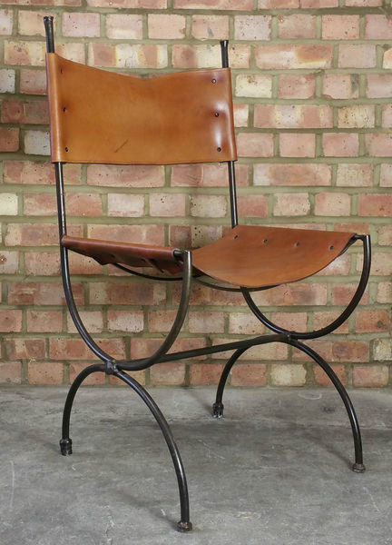 Charleston Forge Saddle Leather Embassy Chair Ch4 Hand Made