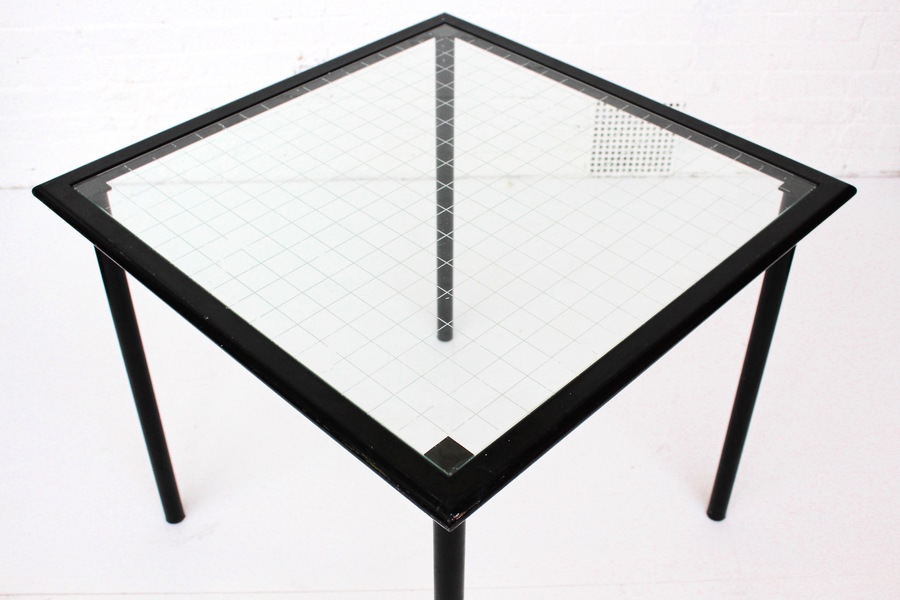 Black Metal Dining Table By Flyline, Italy 1980s