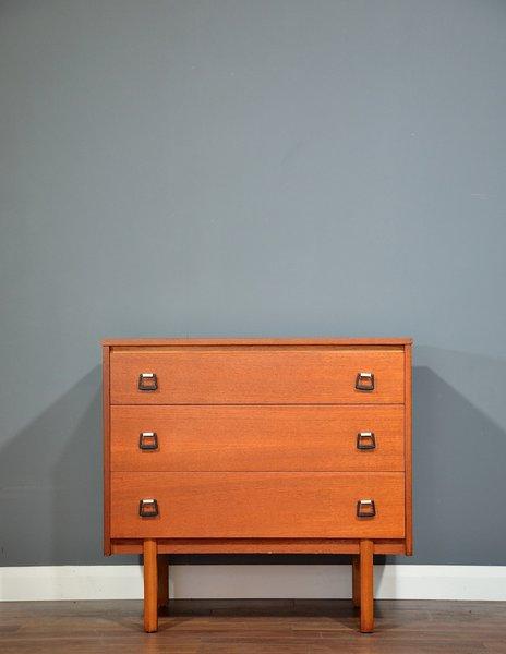 Vintage Midcentury Teak Chest Of Drawers / Tallboy. Delivery. Retro / Modern / Danish Style.