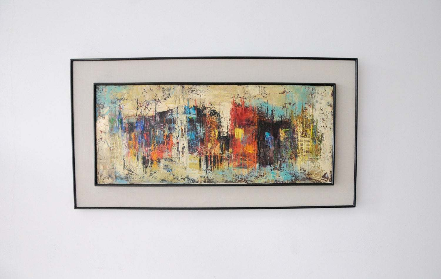 Maurille Prevost Mid Century Abstract Oil On Canvas Maurille Prevost Vinterior