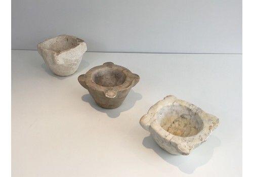 Set Of 3 Stone Mortars