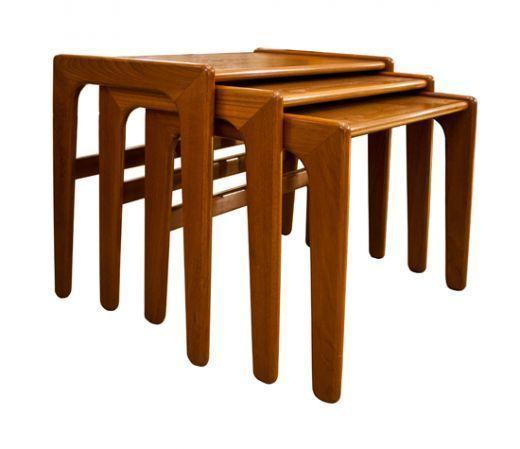 Mid Century Danish Teak Nest Of Tables photo 1