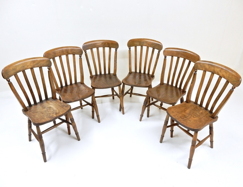 6 Antique Farmhouse Kitchen Chairs Vinterior