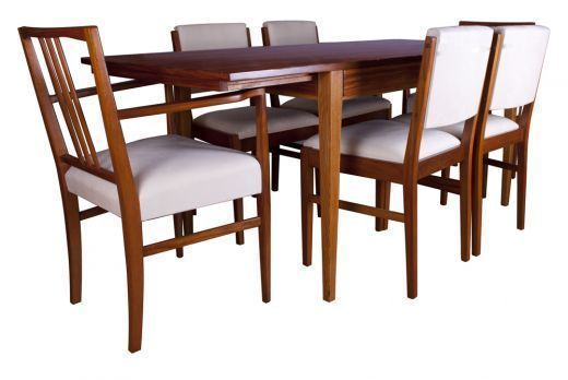 Gordon Russell Tulip Wood Dining Table And Six Chairs photo 1