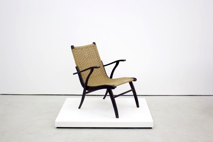 Stylish Rattan Chair With Black Frame