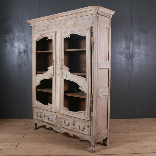 French Oak Display Cabinet