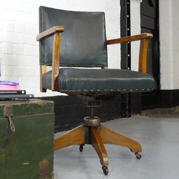 Tremendous Vintage Hillcrest Swivel Desk Office Chair C1940 Pabps2019 Chair Design Images Pabps2019Com