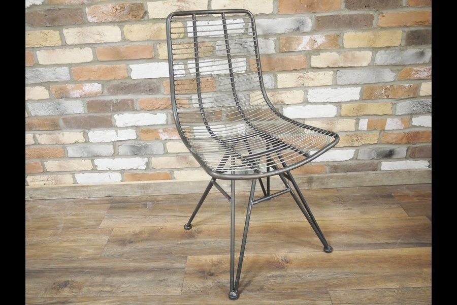 Pair Of Metal Framed Industrial Styled Chairs. H:86cm. Free Delivery.