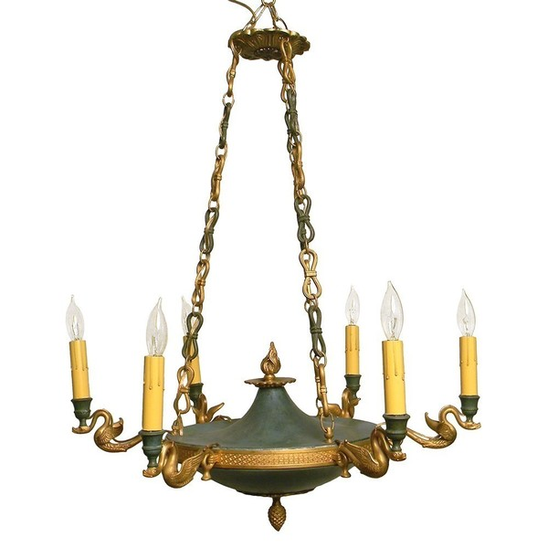 1900s Empire Style 6 Arm Chandelier