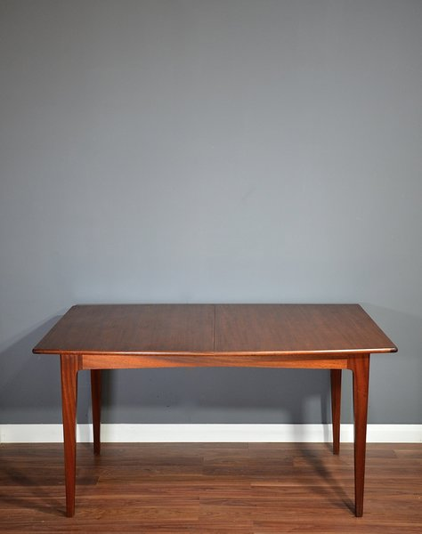 Vintage Midcentury A. Younger Afromosia Fornesca Large Dining Table. Modern / Danish Style.