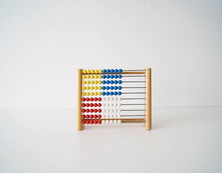 Abacus Slide Rule Wood, Calculator, Children's School Computing
