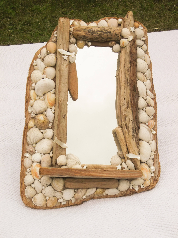 Drift Wood And Seashell Mirror