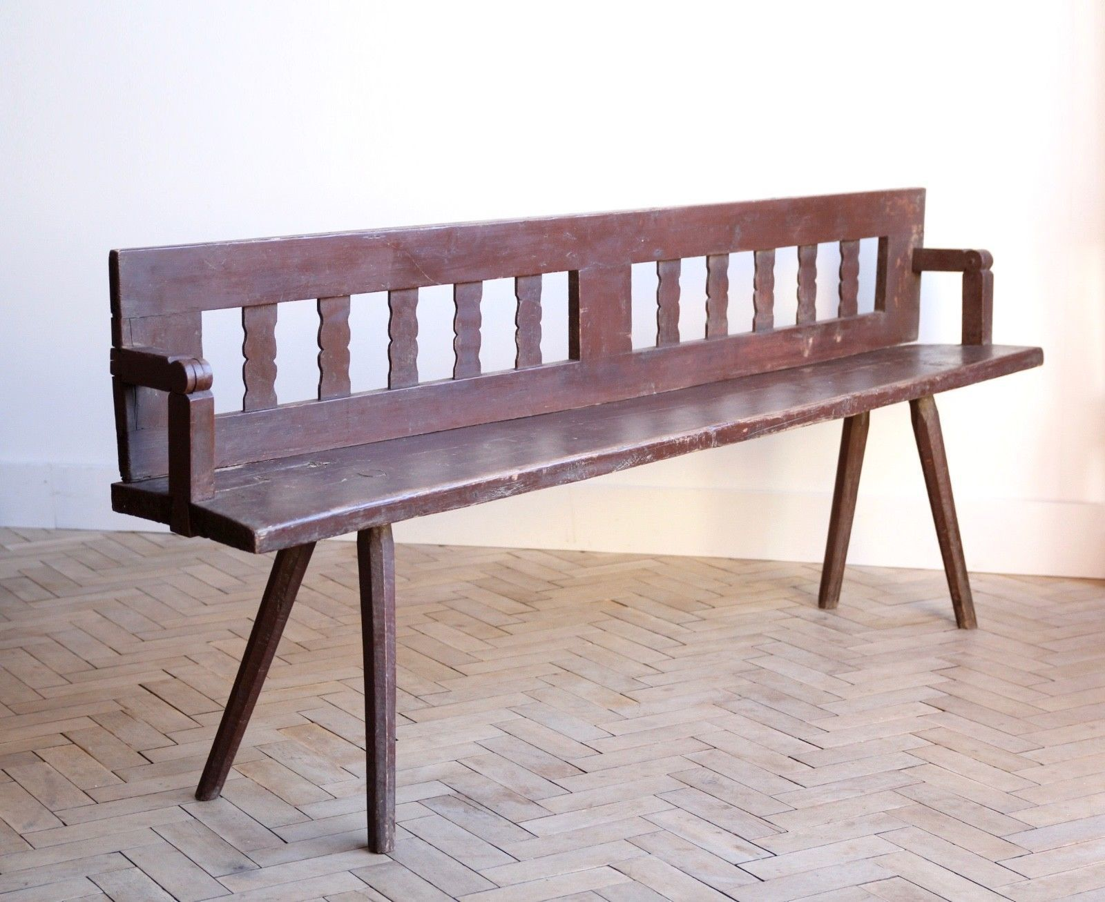 Astounding Vintage Folky Wooden Transylvanian Garden Bench Caraccident5 Cool Chair Designs And Ideas Caraccident5Info