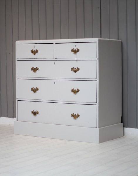 Edwardian Chest Of Drawers In 'French Grey'