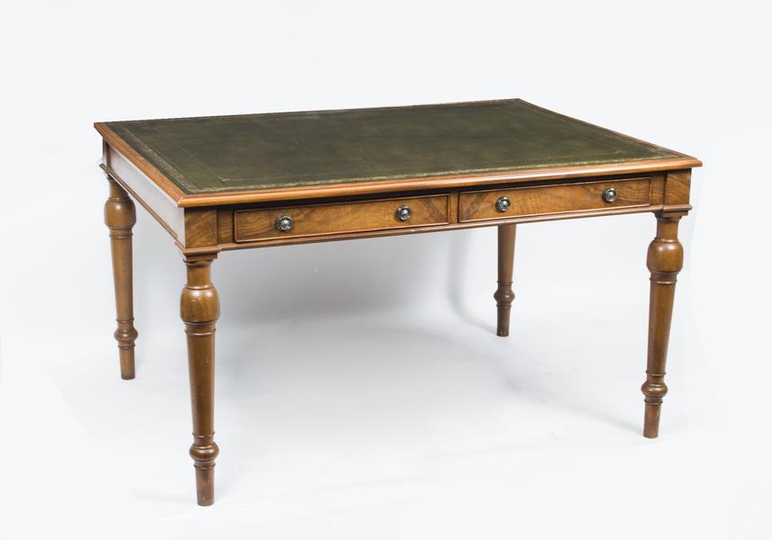 Vintage Victorian Style Walnut Writing Table Desk C1930 photo 1
