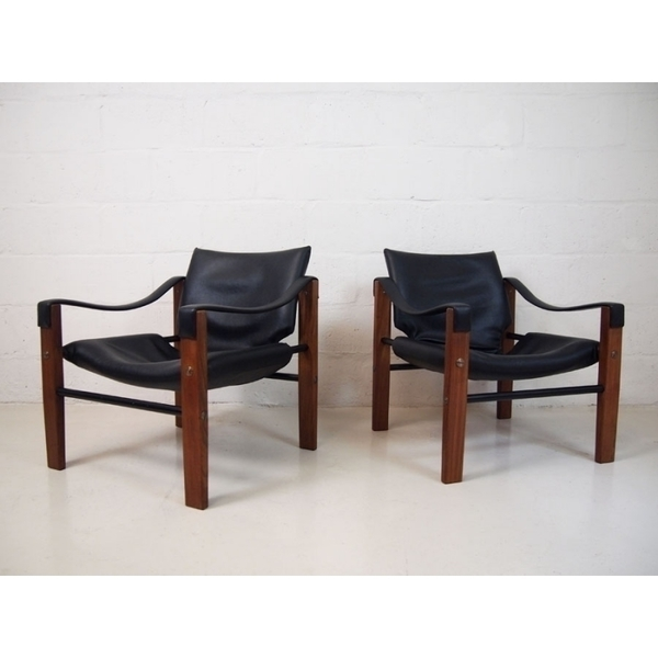 Pair Of Maurice Burke For Arkana Safari Chairs   photo 1