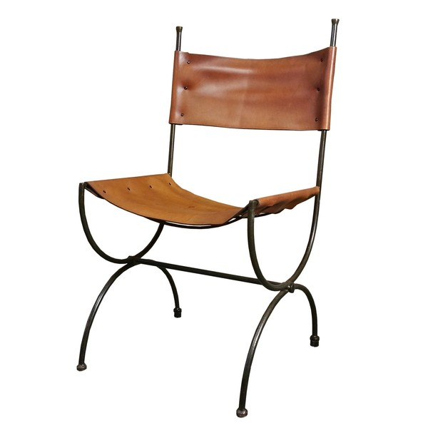 Charleston Forge Saddle Leather Embassy Chair Ch1 Hand Made