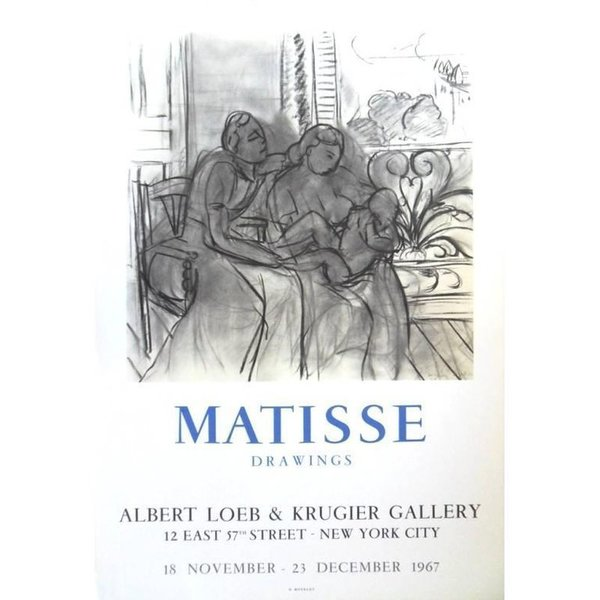 "(After) Henri Matisse Vintage Exhibition Poster   ""Henri Matisse   Drawings   New York"" 1967"