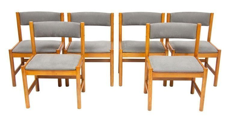 Groovy Set Of Six Mid Century Danish Oak Dining Chairs By Borge Mogensen Caraccident5 Cool Chair Designs And Ideas Caraccident5Info