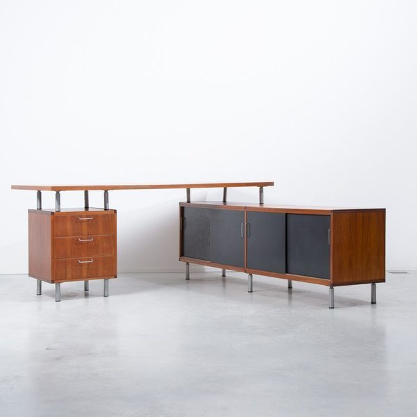 Cees Braakman For Pastoe L Shaped Executive Desk