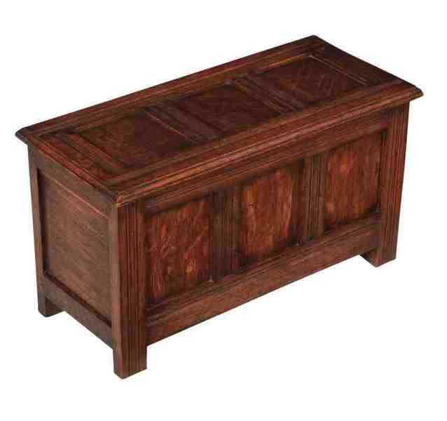 Small Solid Oak Coffer