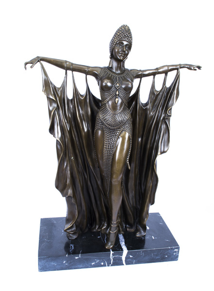 Art Deco Style Bronze Dancer After Chiparus photo 1