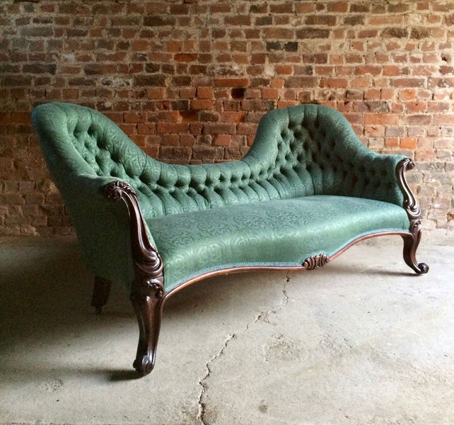 Stunning Antique Button Back Sofa Settee & Armchair Rosewood Victorian C.1870