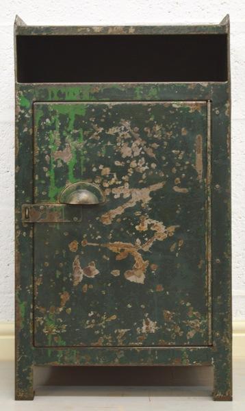 Mid Century Retro Industrial Green Metal Cabinet