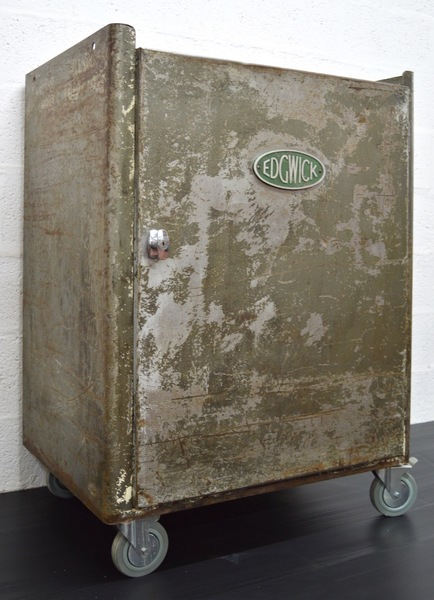 Mid Century Vintage Industrial Metal Cabinet By Edgwick