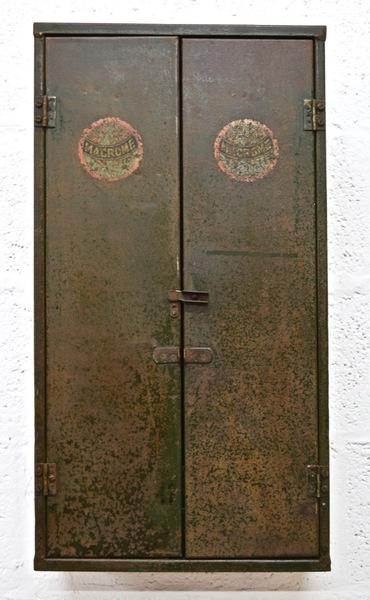 Vintage Mid Century Metal Tool Cabinet By Macrome photo 1