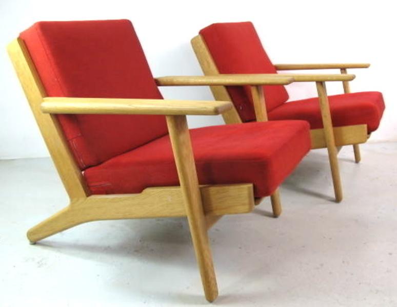 Hans Wegner Ge290 Plank Chairs For Getema