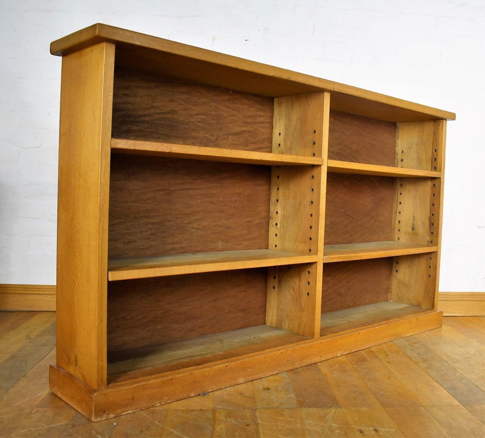 Chunky Oak Open Bookcase Shelving Unit Shelves