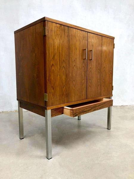 Vintage Design Storage Cabinet Tv Kast Rosewood Minimalism