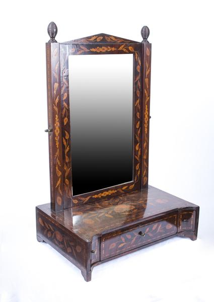 Antique Dutch Marquetry Dressing Table Mirror C.1780 photo 1