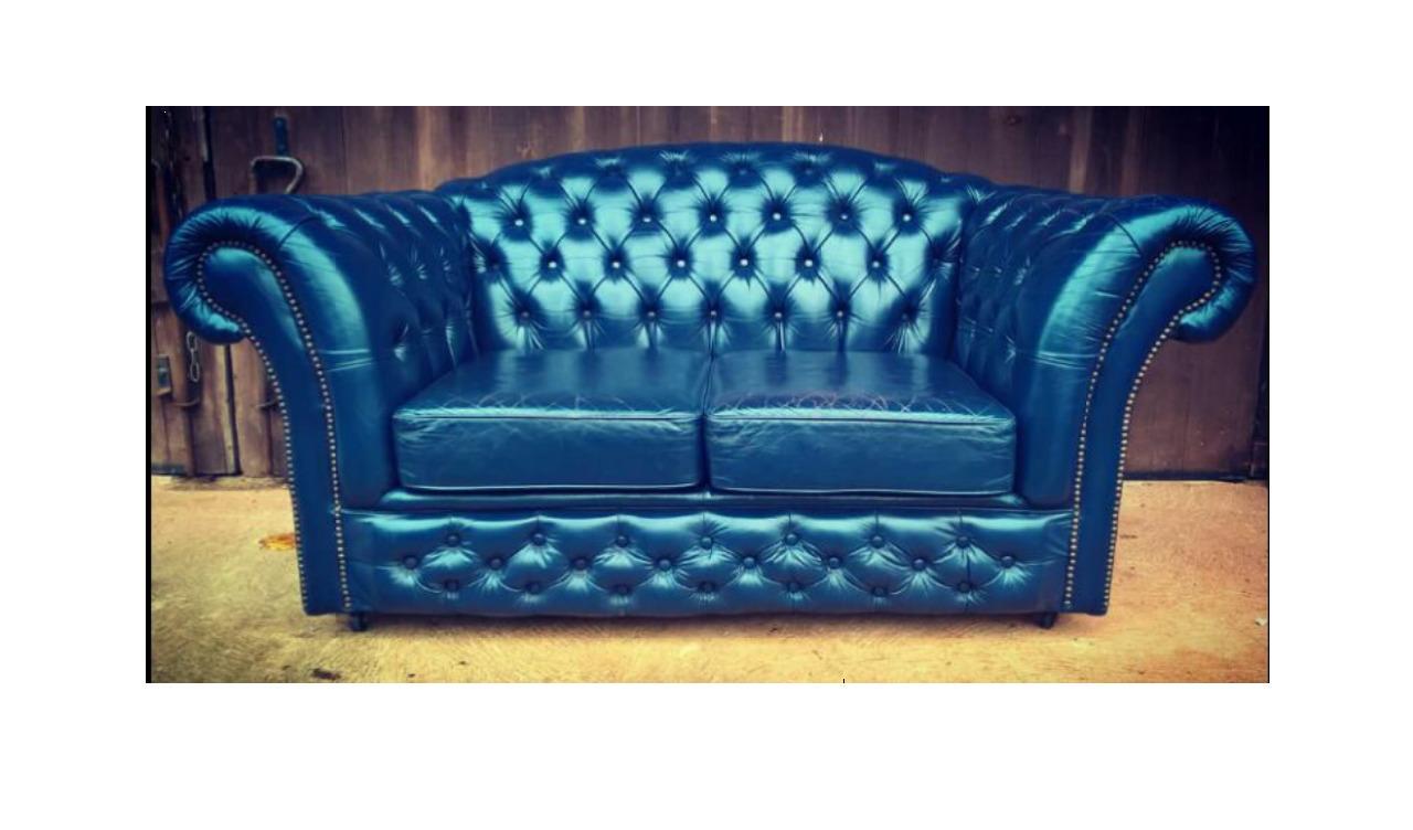 Tremendous Gorgeous Dark Blue Leather Chesterfield Style Sofa Vintage Leather Sofa Spiritservingveterans Wood Chair Design Ideas Spiritservingveteransorg