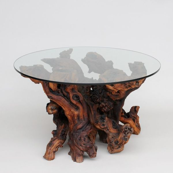 Unusual Yew Root Coffee Table photo 1