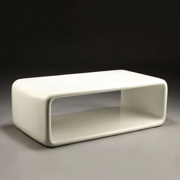 White Fibreglass Coffee Table photo 1