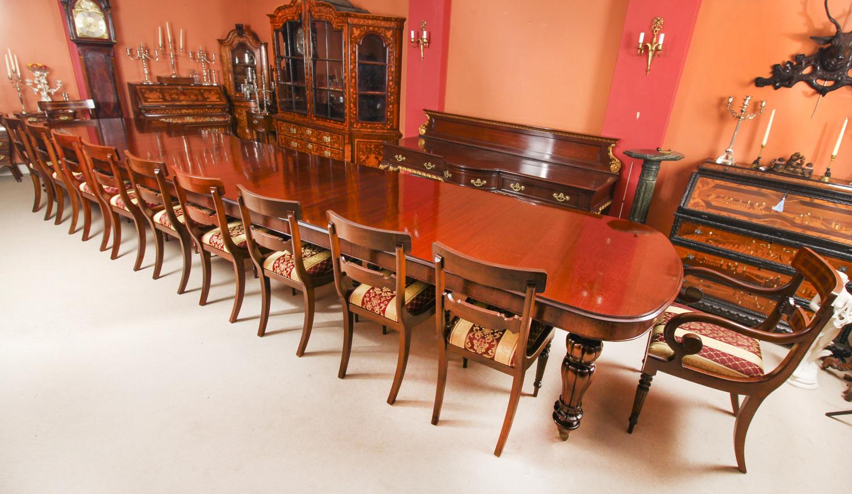 Bespoke Huge Handmade 20ft Dining Table 20 Chairs 21st Century Vinterior