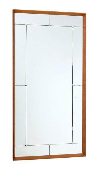 Large 1950's Teak Frame Wall Mirror