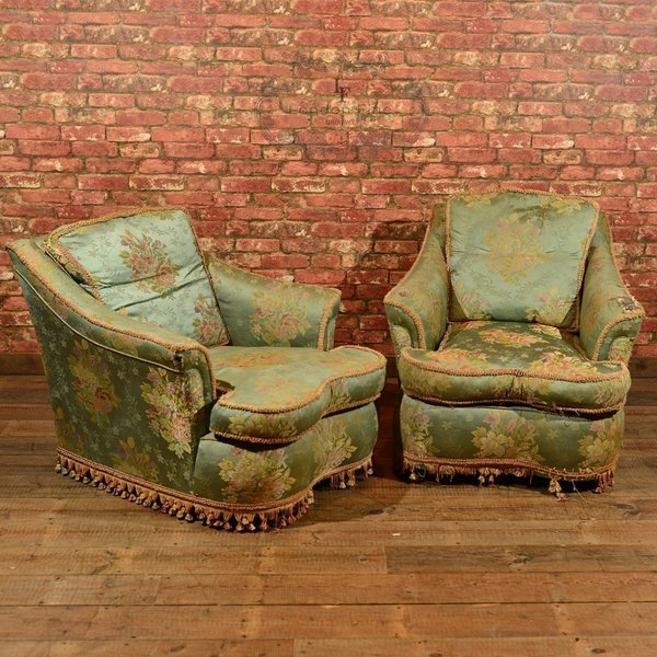 Pair Of Edwardian Armchairs, C.1910