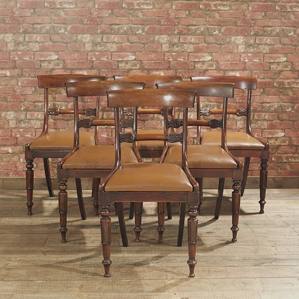 William Iv Set Of 6 Dining Chairs photo 1