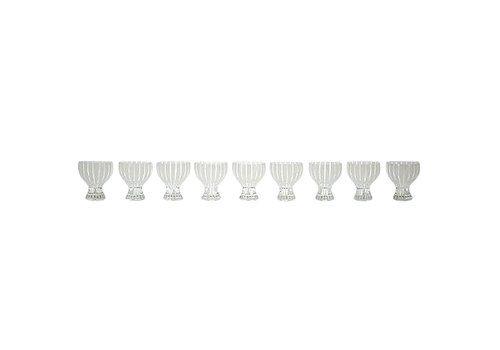 """Nine Cocktail Glasses, """"Strict"""" By Bengt Orup For Johansfors"""