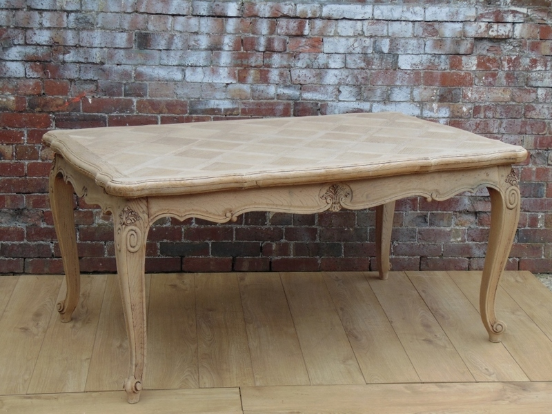 Large Bleached Oak Dining Table photo 1