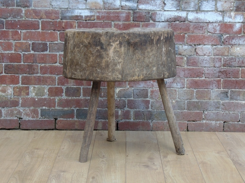 19c Chopping Block Side Table