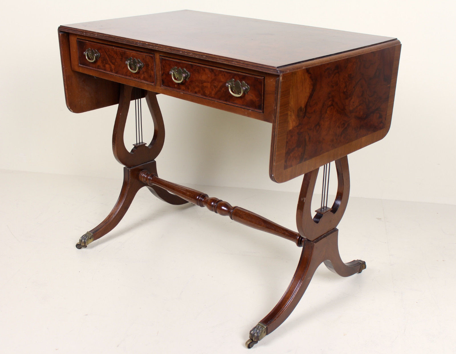 Brilliant Antique Vintage Walnut Sofa Table Drop Leaf Folding Console Table Ncnpc Chair Design For Home Ncnpcorg