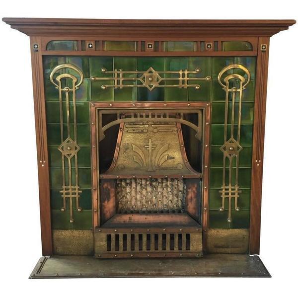 Breathtaking Art Deco Fireplace, Circa 1920s