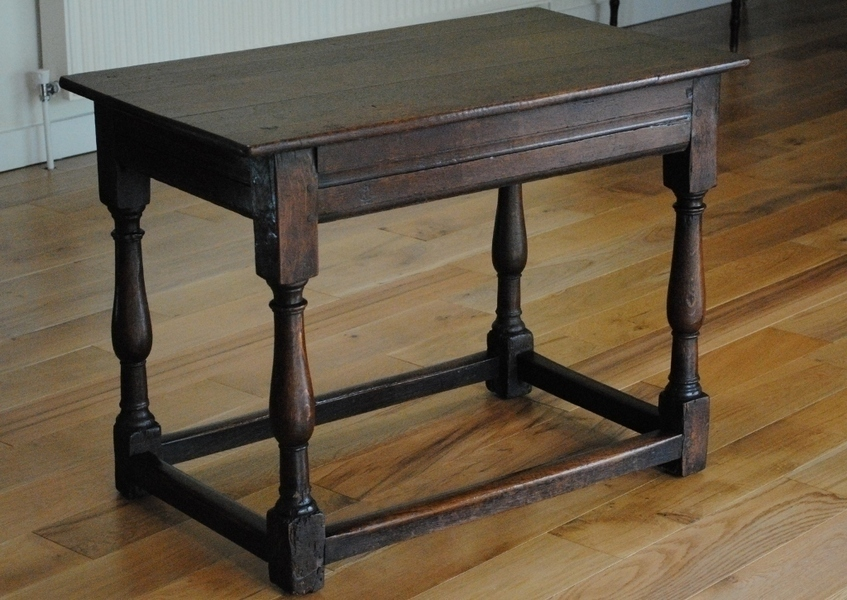 Small Antique, Early Georgian Oak Side, Console Table